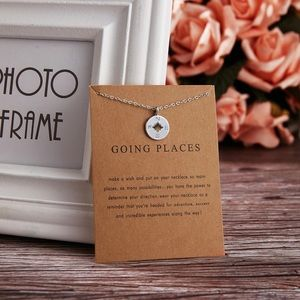 Jewelry - Going Places Compass Charm Necklace